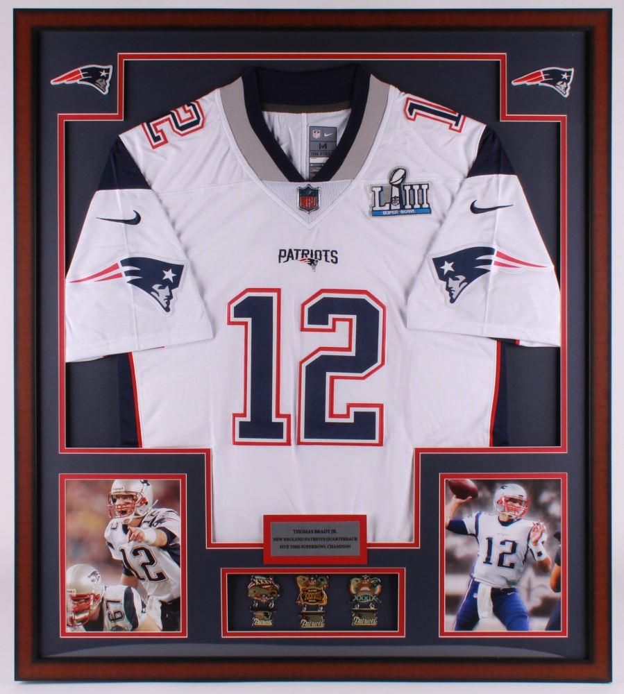 Tom Brady New England Patriots 32x36 Custom Framed Super Bowl ...