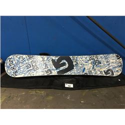 BURTON SNOWBOARD WITH CARRYING CASE