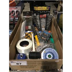 1 BOX ASSTD TOOLS HARDWARE & MISC. (C)