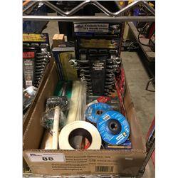 1 BOX ASSTD TOOLS HARDWARE & MISC. (D)