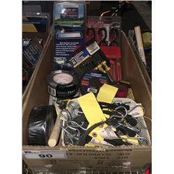 1 BOX ASSTD TOOLS HARDWARE & MISC. (F)