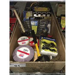 1 BOX ASSTD TOOLS HARDWARE & MISC. (G)