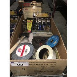 1 BOX ASSTD TOOLS HARDWARE & MISC. (H)