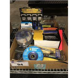 1 BOX ASSTD TOOLS HARDWARE & MISC. (J)