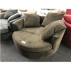 STYLUS DARK BROWN CUDDLE COUCH