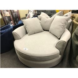 STYLUS LIGHT GREY CUDDLE COUCH