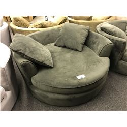 STYLUS DARK GREY CUDDLE COUCH