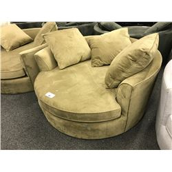 STYLUS CAMEL COLOURED CUDDLE COUCH