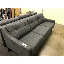 STYLUS DARK GREY 3 SEAT SOFA