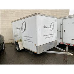2009 WELLS CARGO TC TRECKER ,WHITE, 10' SINGLE AXLE CARGO TRAILER, VIN#1WF200D1294072772,