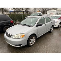 2005 TOYOTA COROLLA CE, 4DRSD, GREY, GAS, MANUAL, VIN#2T1BR32E85C922134, 159,387KMS,RD,CD,PL,TW,AC,