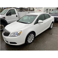 2015 BUICK VERANO, WHITE, GAS, AUTOMATIC, VIN#1G4PN5SKXF4202935, 44,612KMS,