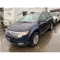 2008 FORD EDGE, BLUE, 4DRSW, GAS, AUTOMATIC, VIN#2FMDK49C18BB25725, 282,739KMS,