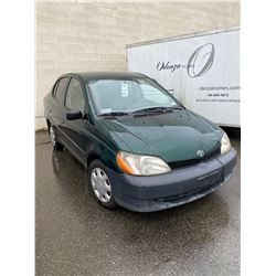 2002 TOYOTA ECHO, GREEN, 4DRSD, GAS, AUTOMATIC, VIN#JTDBT123720209347, 175,458KMS, RD,CD,TW,AC,OOP,