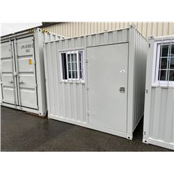 BRAND NEW 9' STORAGE CONTAINER MOBILE OFFICE 1 DOOR & 1 WINDOW