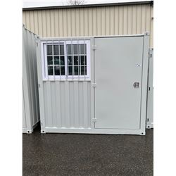 BRAND NEW 8' STORAGE CONTAINER MOBILE OFFICE 1 DOOR & 1 WINDOW