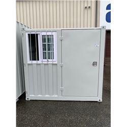BRAND NEW 7' STORAGE CONTAINER MOBILE OFFICE 1 DOOR & 1 WINDOW