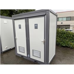 BRAND NEW MOBILE PORTABLE DOUBLE TOILET WITH TOILET & SINK