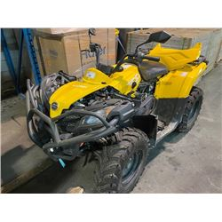 YELLOW CFORCE CF500AU-7S GAS POWERED 4X4 QUAD