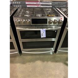 SAMSUNG STAINLESS STEEL  CHEF COLLECTION 5 BURNER RANGE WITH SELF CLEAN & CONVECTION &  WARMING