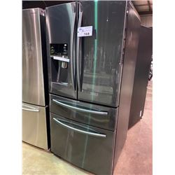 SAMSUNG BLACK STAINLESS STEEL FRENCH DOOR 25 CU.FT. REFRIGERATOR WITH WATER AND ICE DISPENSER