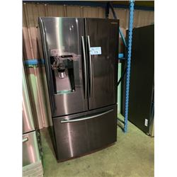 SAMSUNG BLACK STAINLESS STEEL FRENCH DOOR 24.6 CU.FT. REFRIGERATOR WITH WATER AND ICE DISPENSER