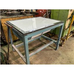LARGE METAL DRAFTING TABLE