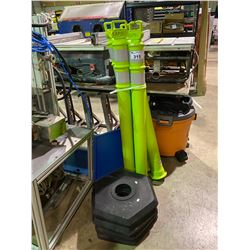 4BRIGHT GREEN TRAFFIC CONES
