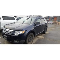 2008 FORD EDGE SEL, 4DR SUV, BLUE, VIN # 2FMDK38C78BB06270