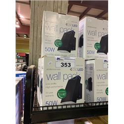 3 ARCHITECTURAL STYLE WALL MOUNT 50W LED LIGHT FIXTURES