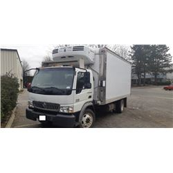 2008 INTERNATIONAL CF 500 BOX TRUCK, WHITE, VIN # 3HAJEAVH28L633457