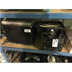 PROPANE COOLER AND ASSORTED METAL AND DIVING BELT WEIGHT
