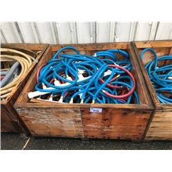 BIN OF AIR HEADERS & ASSORTED HOSES