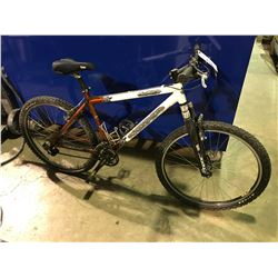 WHITE KONA BLAST 24 SPEED FRONT SUSPENSION MOUNTAIN BIKE