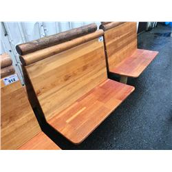 RUSTIC WOODEN 4 PERSON DOUBLE SIDED BENCH