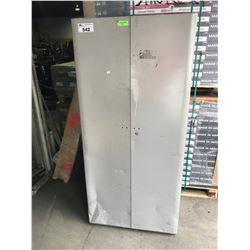 GREY METAL 2 DOOR CONSUMABLES CABINET