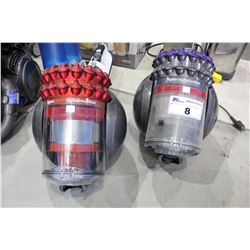 PAIR OF DYSON BIGBALL CANISTER VACUUMS MISSING COMPONENTS