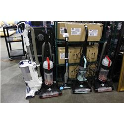 LOT OF 5 ASSORTED VACUUMS