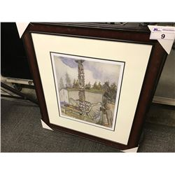 FRAMED LIMITED EDITION PRINT  ALERT BAY  BY EMILY CARR, 320/950