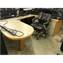 MAPLE 6' X 8' RH U-SHAPE EXECUTIVE DESK