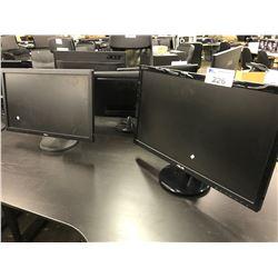 1 ASUS AND 1 BENQ LCD MONITOR
