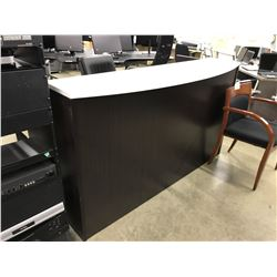 DARKWOOD 6' RECEPTION DESK