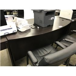 DARKWOOD 6' BOWFRONT EXECUTIVE DESK