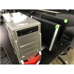 1 RAID MAX DESKTOP COMPUTER (NO HDD), 2 LCD MONITORS