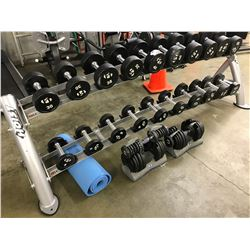 HOIST WEIGHT RACK AND FREE WEIGHTS