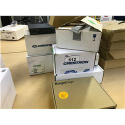 LOT OF CRESTRON AV EQUIPMENT