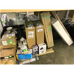 LARGE LOT OF MISC. AV MOUNTS, CABLE AND PAINT BINS NOT INCLUDED
