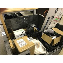 LARGE LOT OF MISC. AV EQUIPMENT BIN NOT INCLUDED
