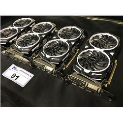 4 MSI RADEON RX570 ARMOR RX570 4GB VRAM, OC GPU'S