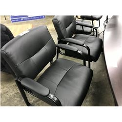 2 BLACK CLIENT CHAIRS (S1)